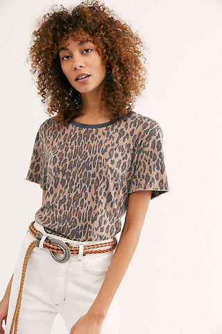 Tourist Tee - Neutral Combo Leopard
