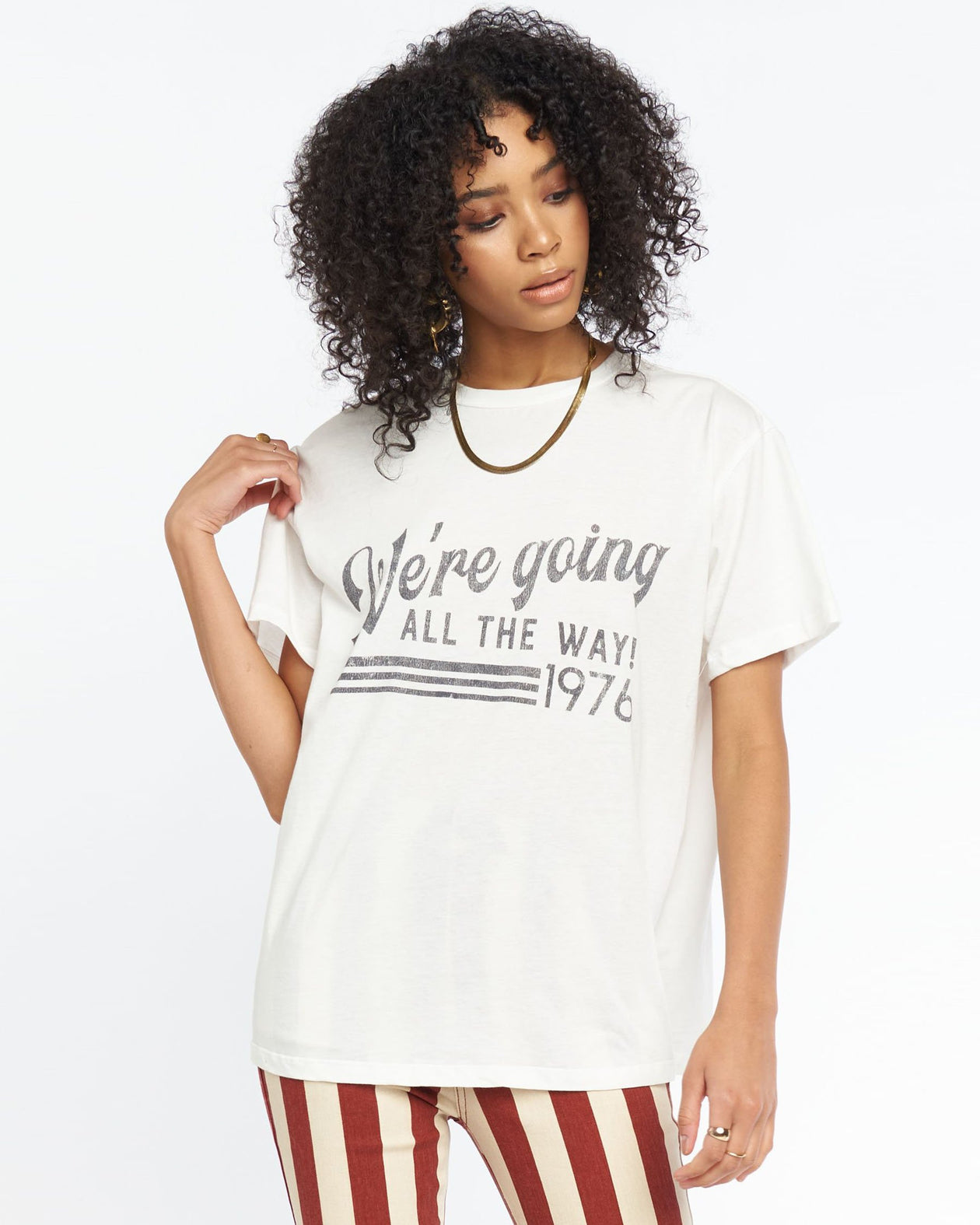 Travis Tee - All The Way Graphic | Show Me Your Mumu - Women's Tops