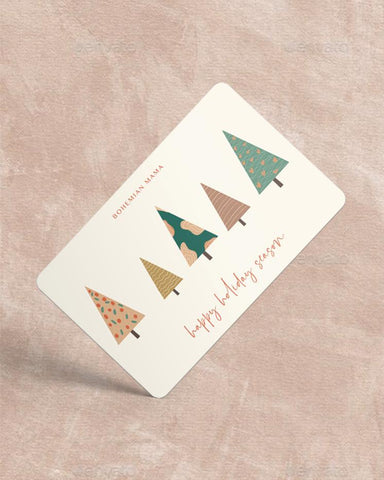 Bohemian Mama Holiday Gift Card - Tree