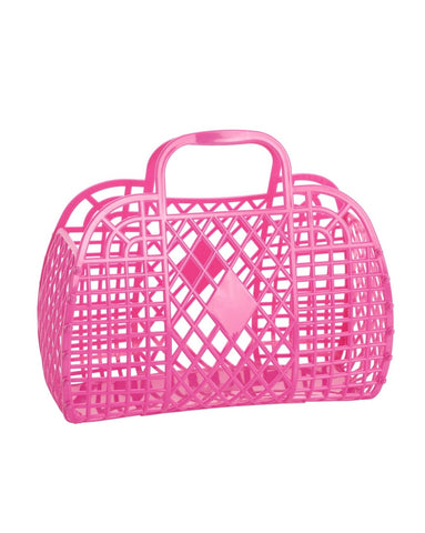 Retro Basket- Small Berry Pink
