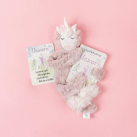 Slumberkins Unicorn Snuggler Bundle - Rose