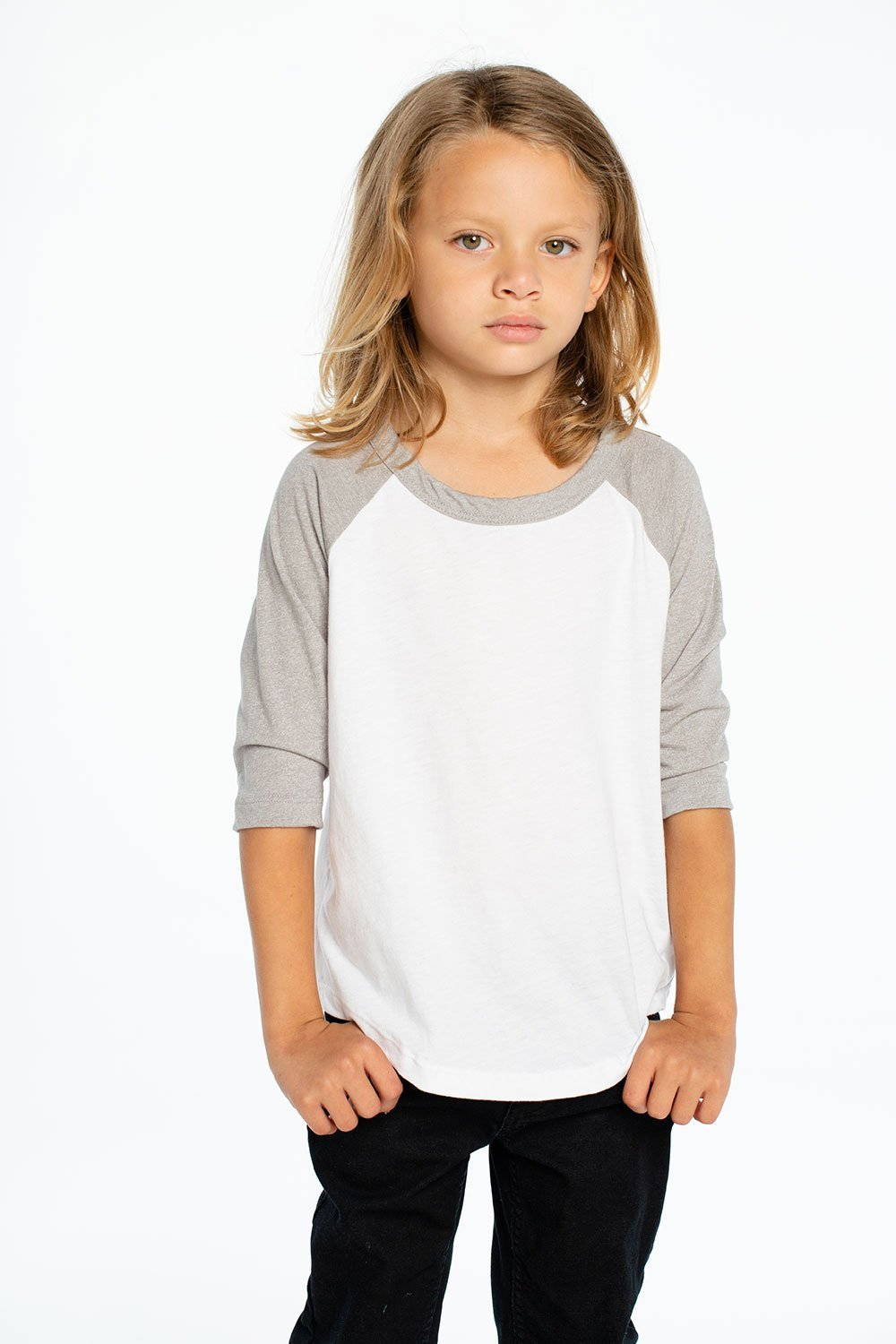 7f279ad8 ... Load image into Gallery viewer, Vintage Jersey 3/4 Sleeve Raglan  Baseball Tee by · Chaser Kids