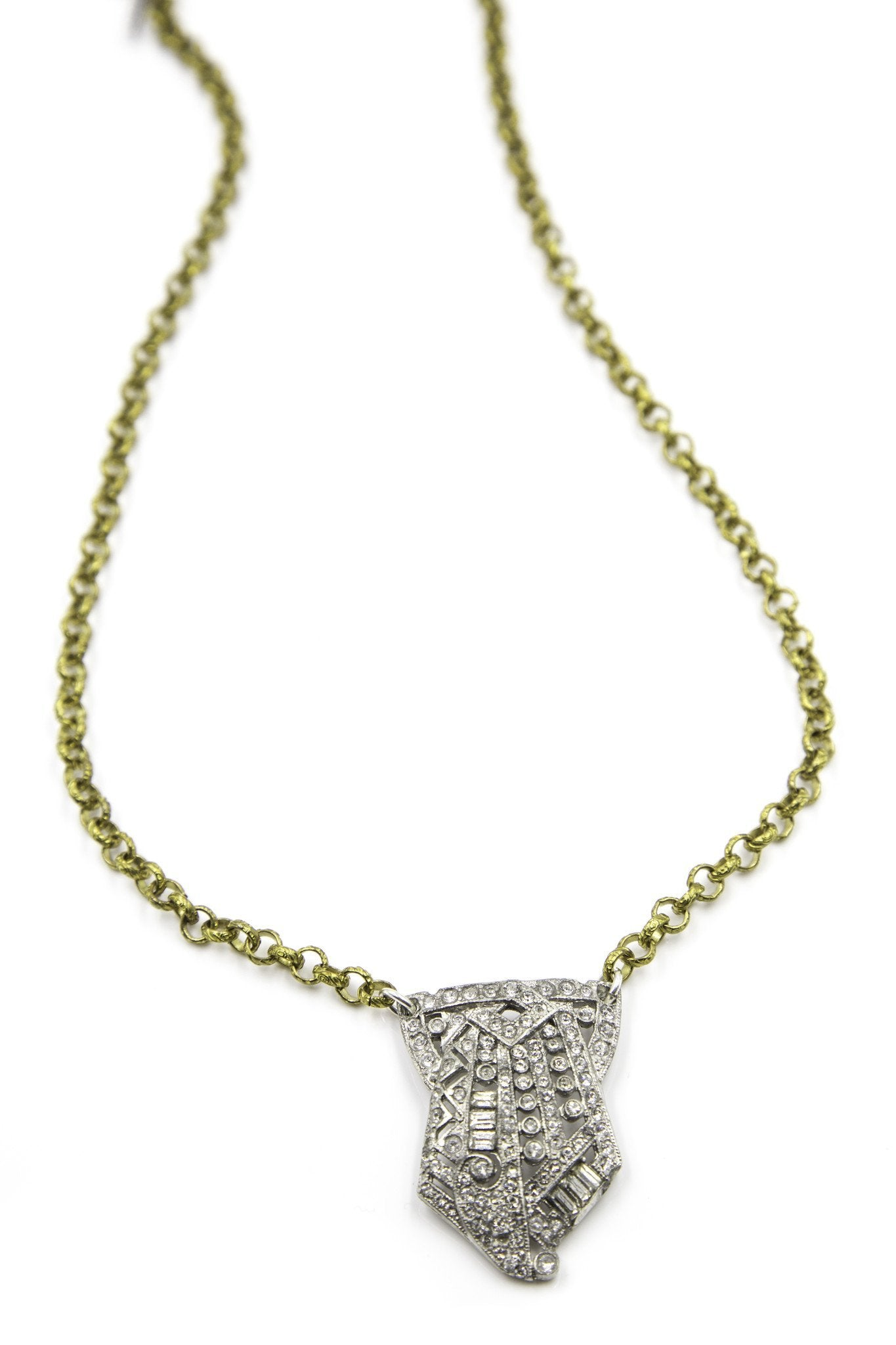 Load image into Gallery viewer, vintage delicate charm necklace in 14k gold