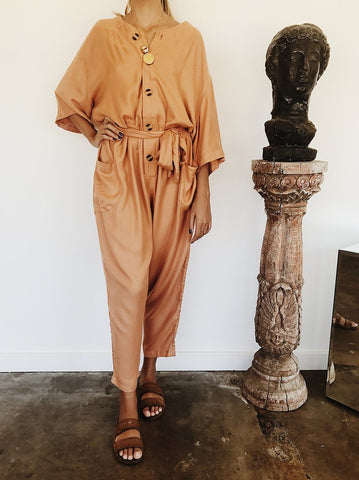 Avalon Boiler Suit in Bisque