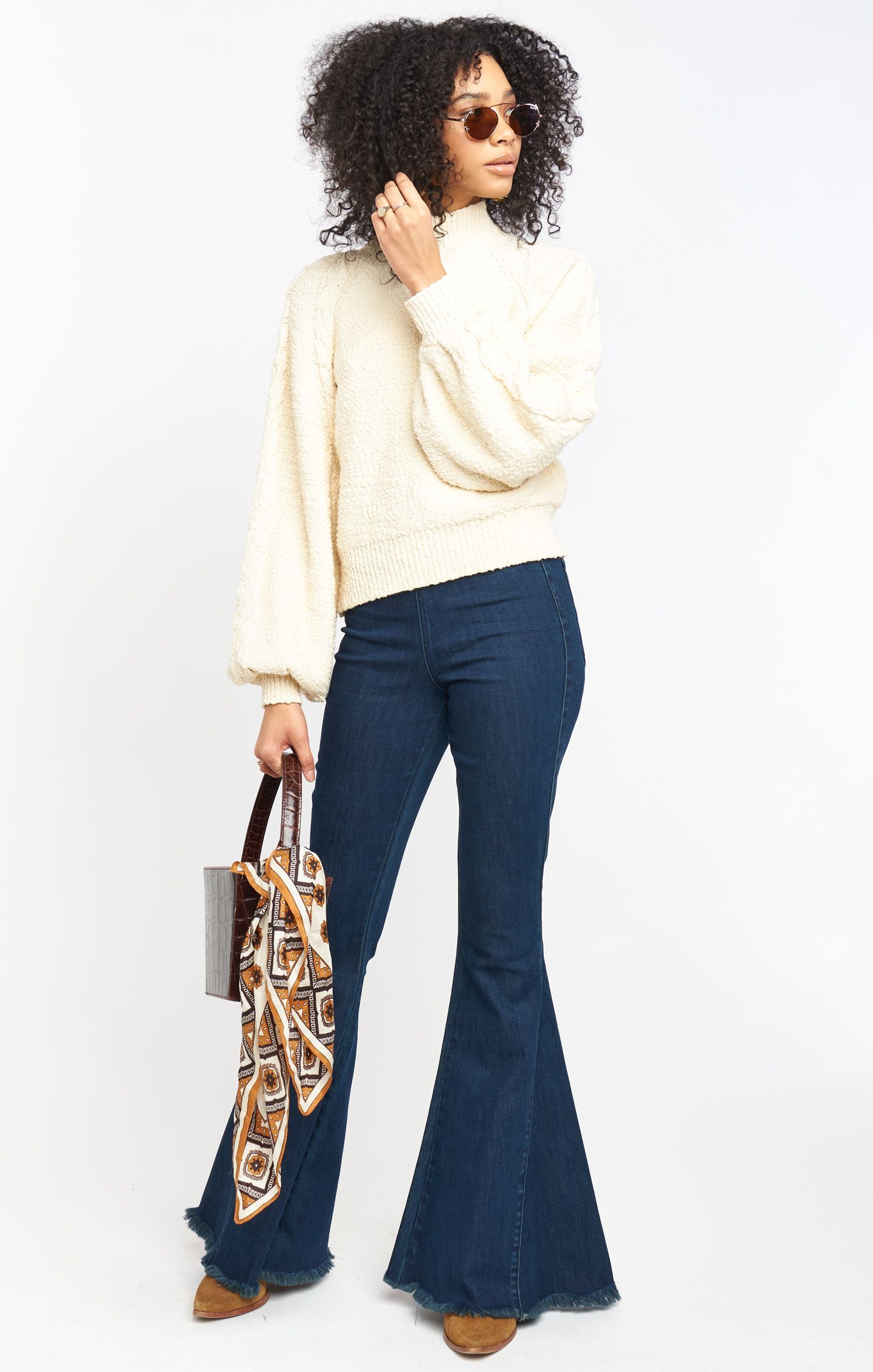 Load image into Gallery viewer, Vienna Sweater - Vanilla Cable Knit | Show Me Your Mumu - Women's Outerwear