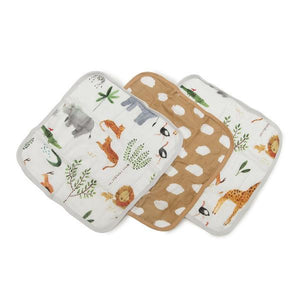 Washcloth Set - Safari from Loulou Lollipop
