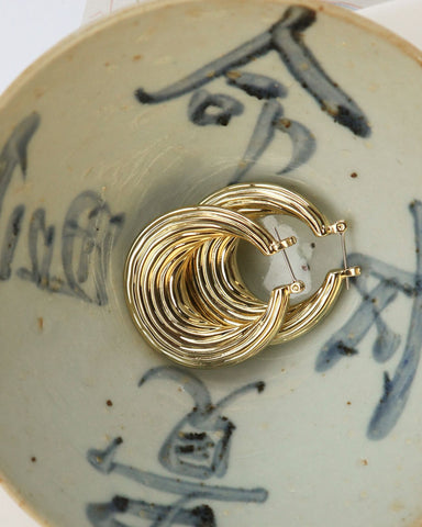 Wave Hoops - Gold