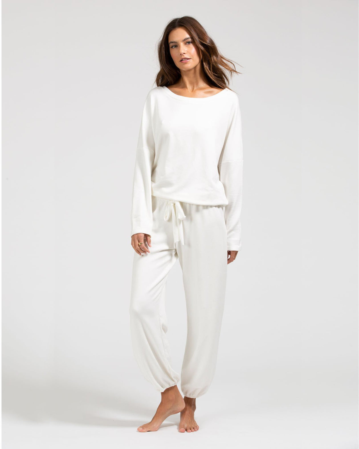 Winter Heather Cropped Pant - Winter White | Eberjey - Women's Sleepwear