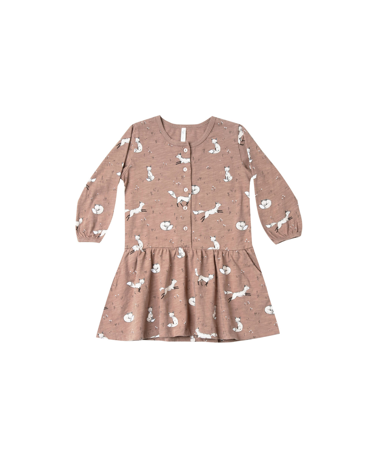 Winter Fox Button Up Dress by Rylee & Cru