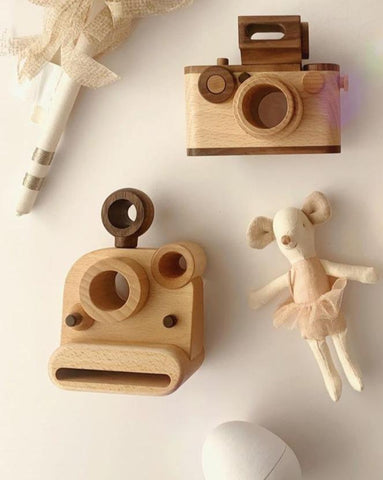 Polaroid Style Wooden Toy Camera