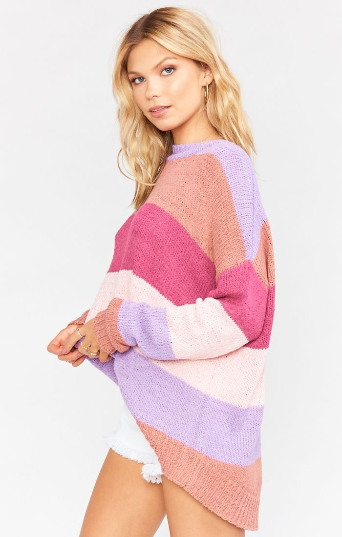 Load image into Gallery viewer, Woodsy Sweater Sunset Strip Knit | Show Me Your Mumu Women's Outerwear