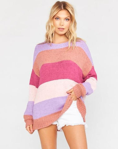 Woodsy Sweater Sunset Stripe Knit