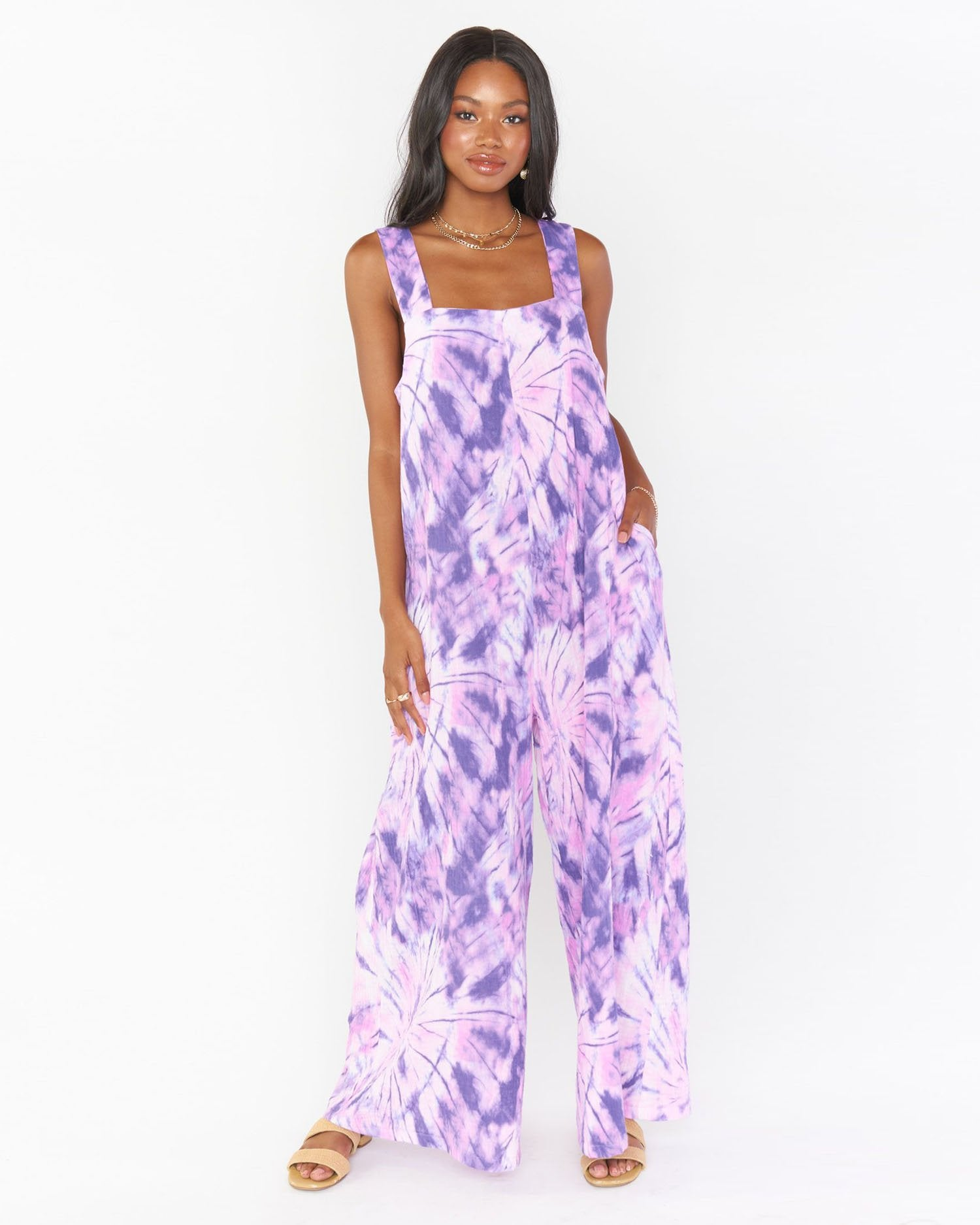 Load image into Gallery viewer, Summerland Jumpsuit - Purple Tie Dye | Show Me Your Mumu - Women's Clothing