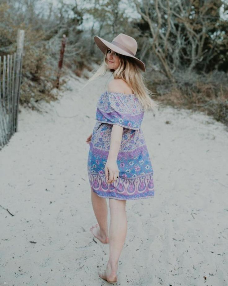 Rosey Ruffle Dress - Purple | Bohemian Mama - Women's Clothing