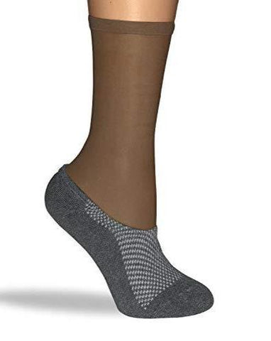 Ankle Socks - Gray/Cocoa