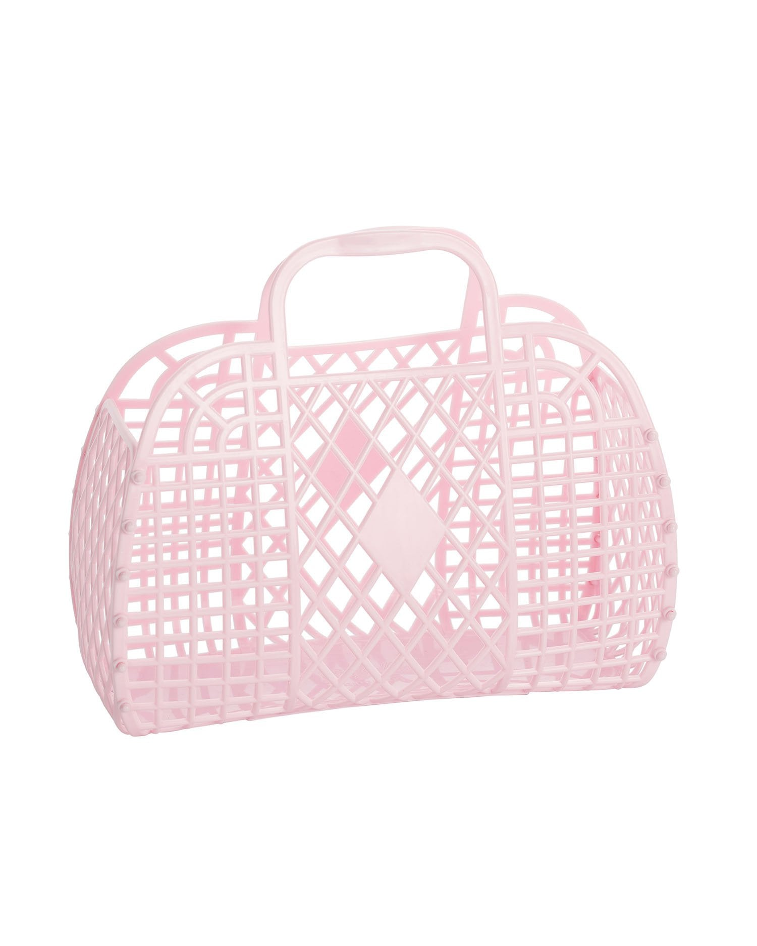 Load image into Gallery viewer, Retro Basket- Pink | Sun Jellies Kids Handbag