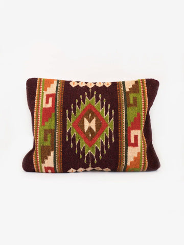 One-of-a-Kind Oaxaca Woven Wool Pillow-Cristianos