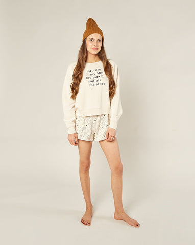 Womens Stardust Sweat Short - Natural