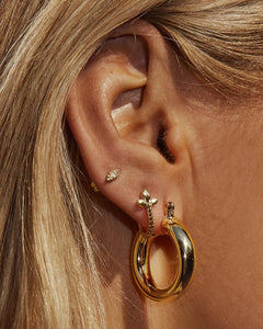 Baby Amalfi Tube Hoops Gold