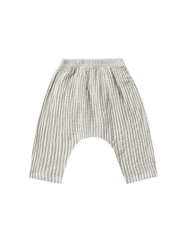 Baggy Harem Pants Olive Stripe