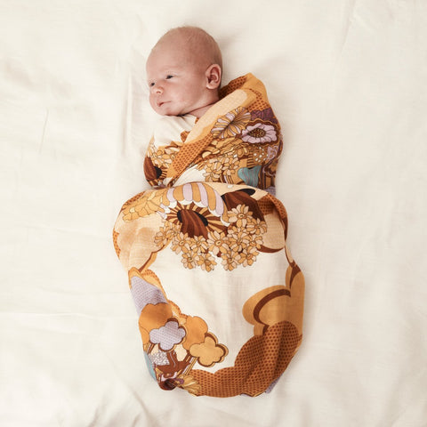 Bamboo + Organic Cotton Baby Swaddle Day Dream Believer