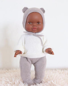 (PREORDER) Minikane Little African Baby Boy Doll - Brown Eyes
