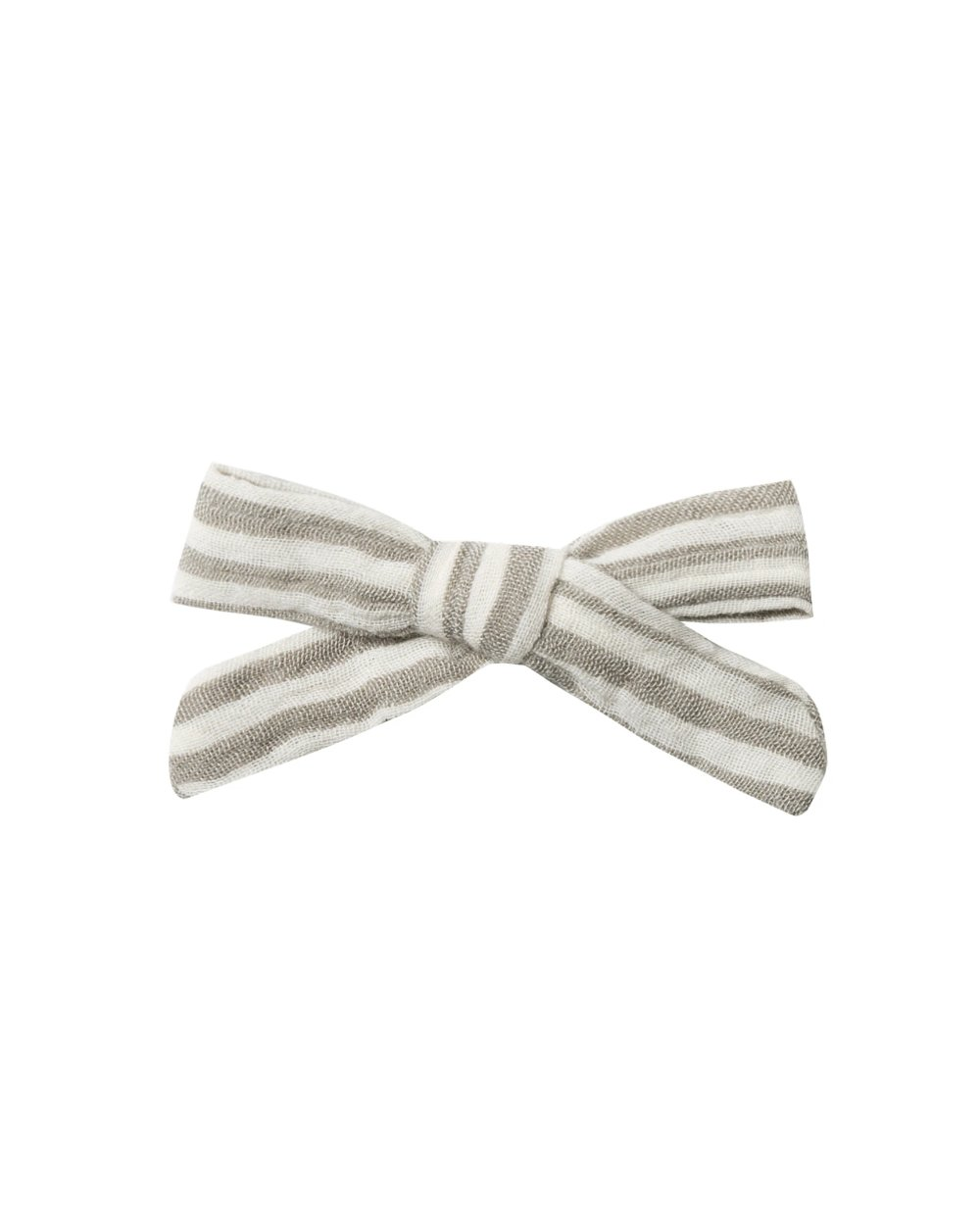 Bow With Clip - Olive Stripe