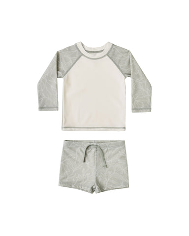 Fern Rashguard Boy Set Sage