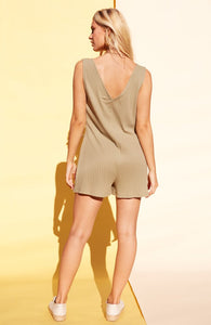 minkpink playsuit button up playsuit in khaki