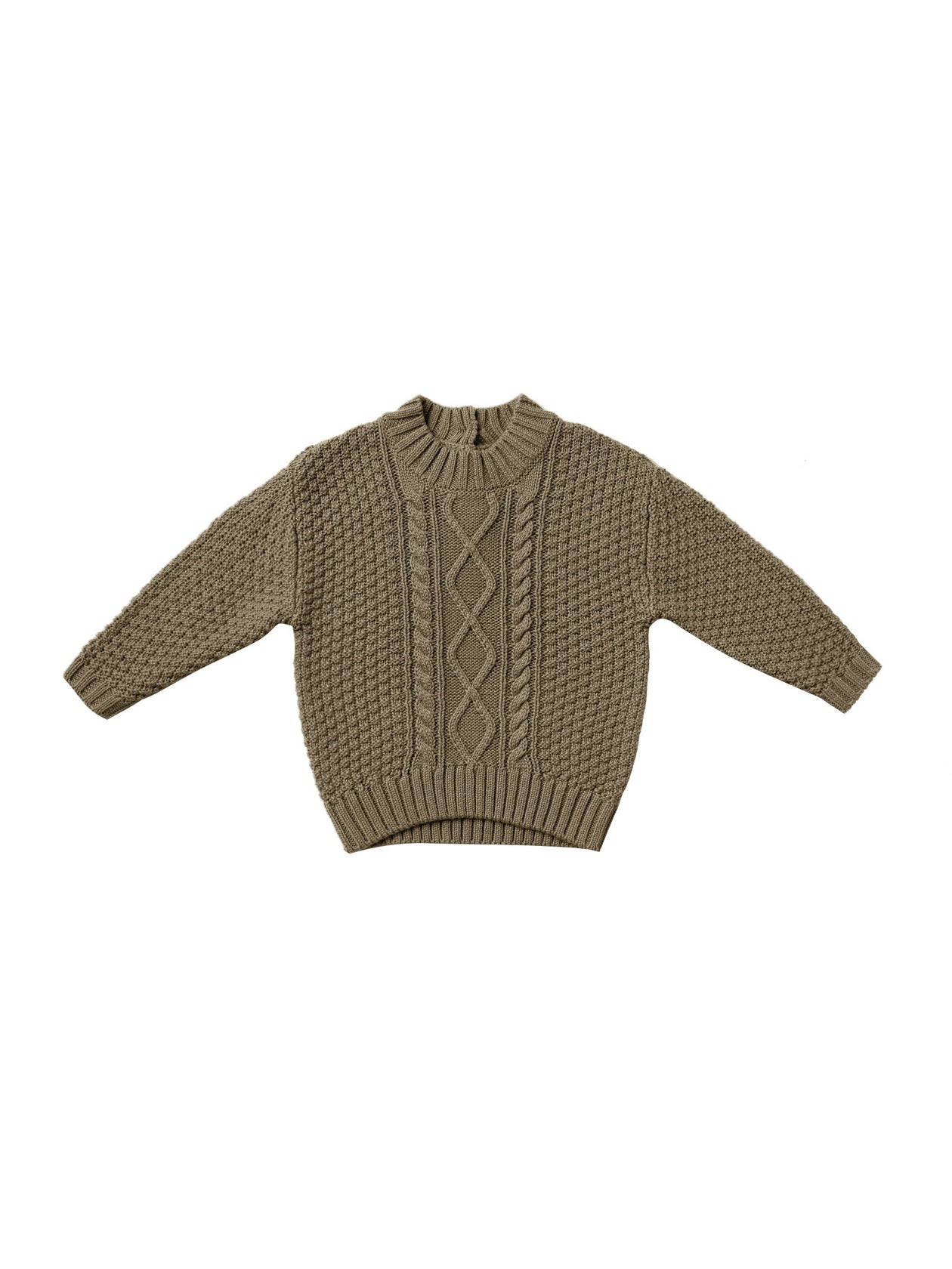 Quincy Mae Cable Knit Sweater Olive