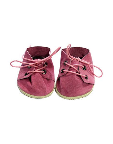 Minikane  Lace-up Shoes - Pink Suede