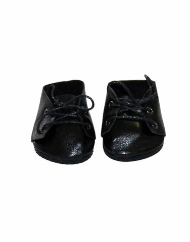 Minikane  Lace-up Shoes - Black Leather