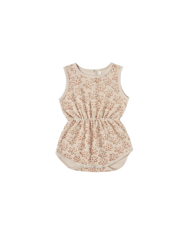 Girls Flower Outline Cinch Playsuit Shell