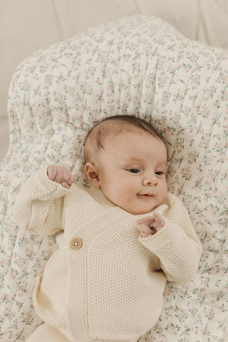 Fin & Vince Layette Wrapped Cardigan - Milk