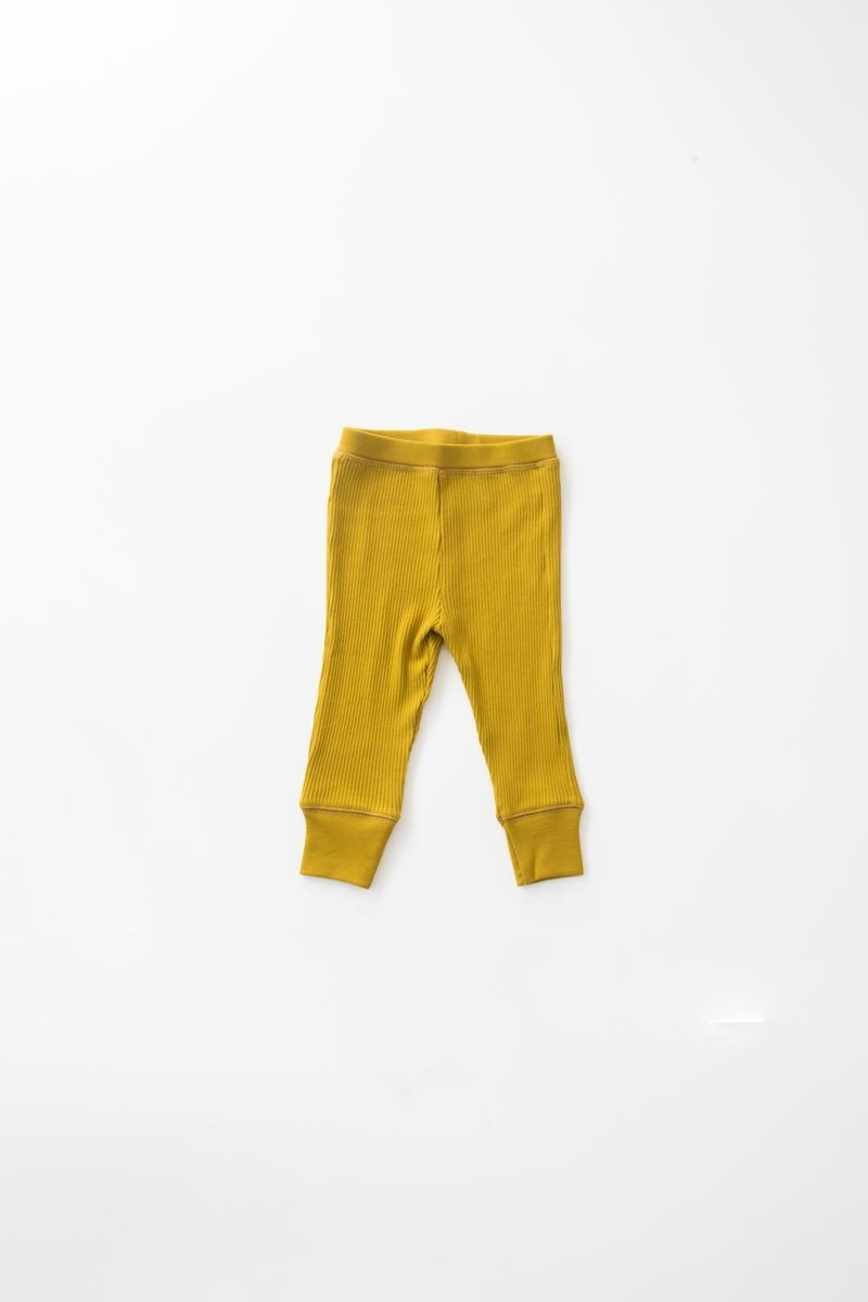 Load image into Gallery viewer, Fin & Vince Drop Needle Ribbed Pant - Chartreuse