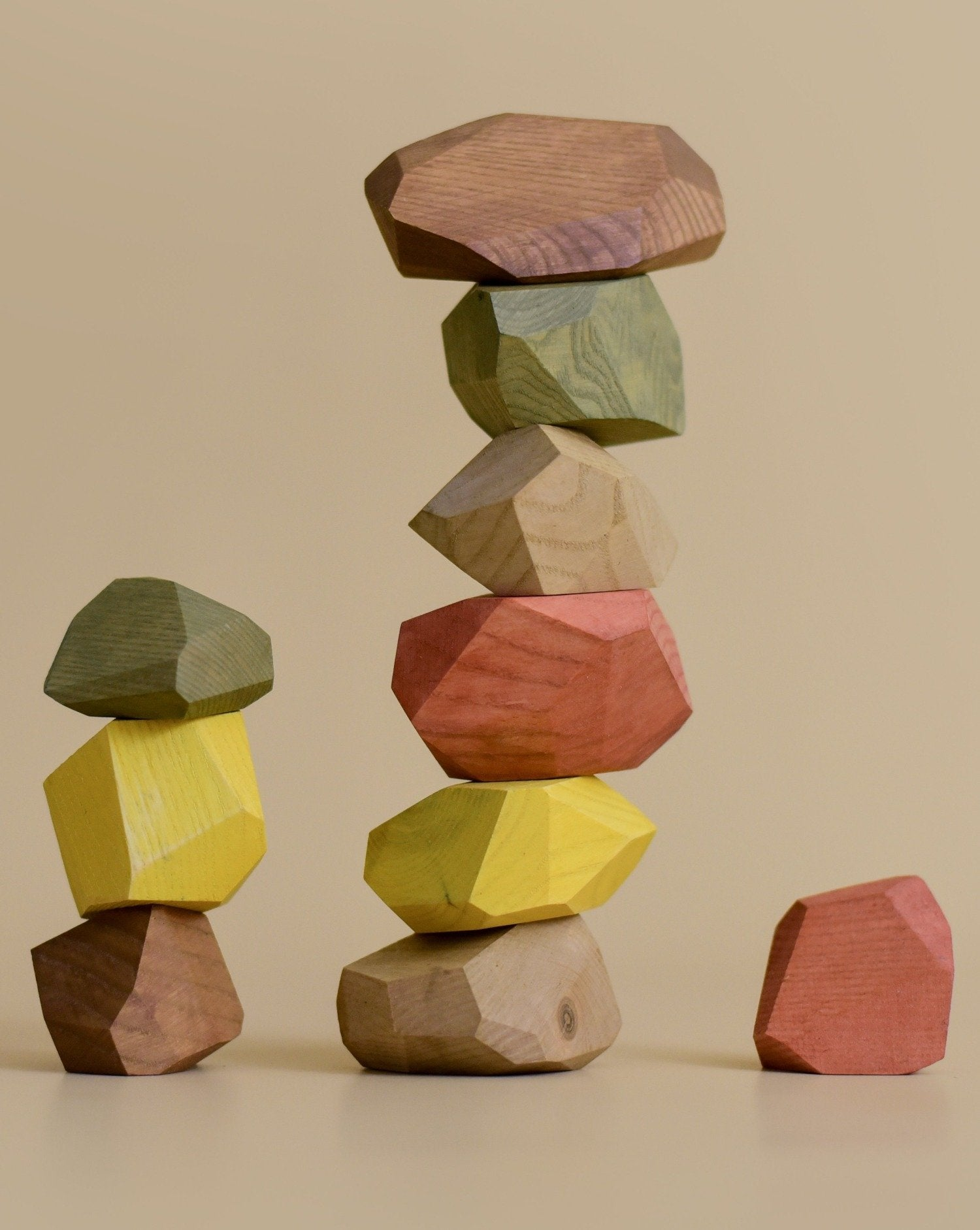 Load image into Gallery viewer, Balancing Stones - Earthy | MinMin Copenhagen - Kids Toys