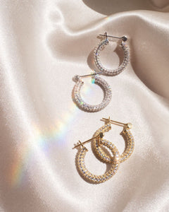Pave Baby Skinny Amalfi Hoops - Gold | Luv AJ - Holiday 2020 | Women's Jewelry