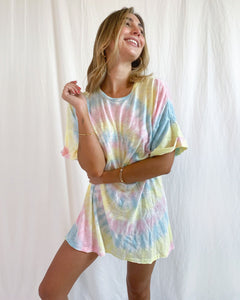 Dylan T-Shirt Dress - Rainbow Tie Dye | Show Me Your Mumu - Women's Clothing