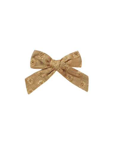 Eyelet Girl Bow- Goldenrod