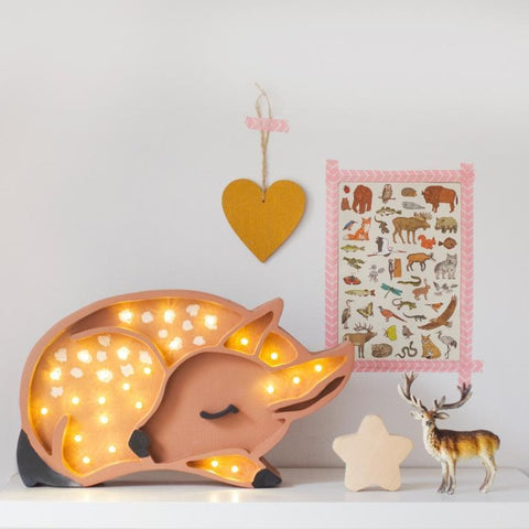 Little Lights Deer Lamp - Brown