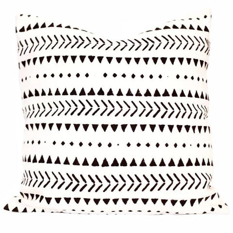 Indian Hand Blocked Mud Cloth, Salt