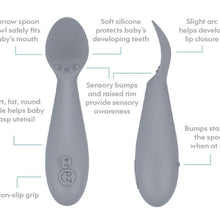 Load image into Gallery viewer, EZPZ Tiny Spoon (2-pack): Pewter