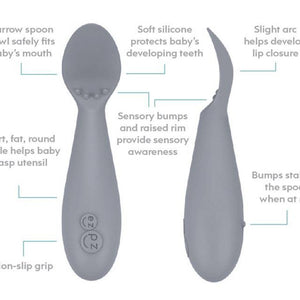 EZPZ Tiny Spoon (2-pack): Pewter