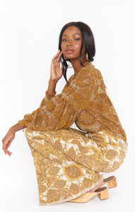 Georgie Top - Golden Paisley | Show Me Your Mumu - Women's Clothing