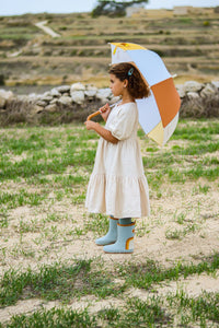 Children's Sustainable Umbrella - Light Blue | Grech & Co. - Kids Fashion Accessories