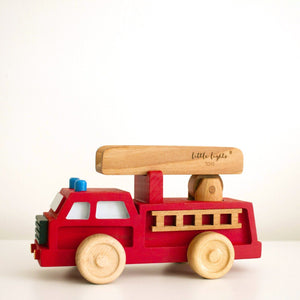 Little Lights Fire Truck Toy | Kids Wooden Toys - Educational