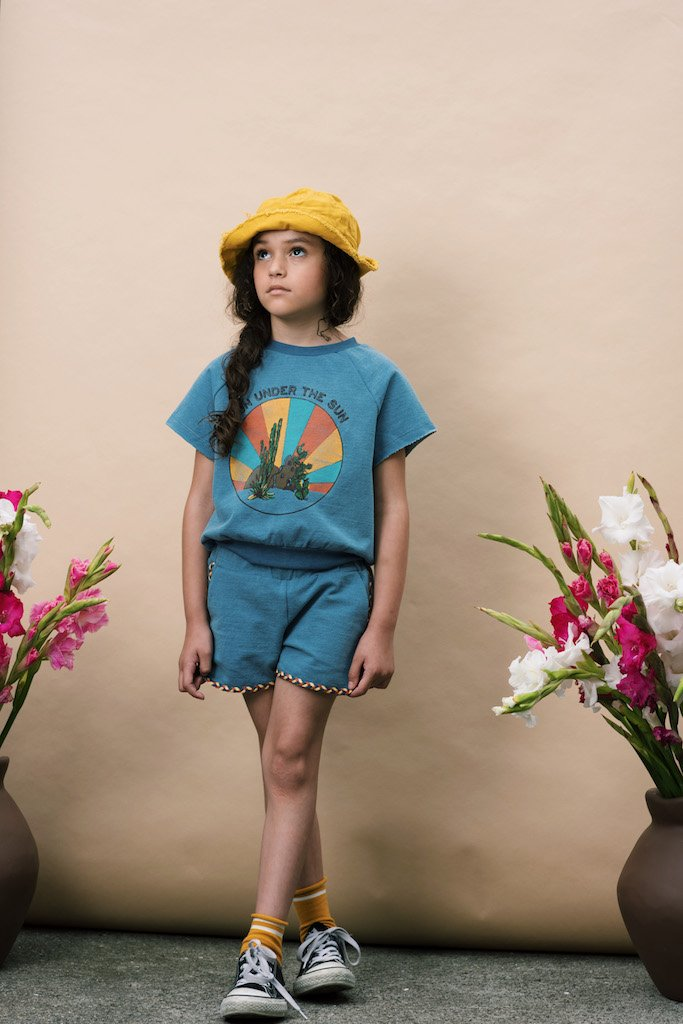 Load image into Gallery viewer, Girls Shorts in Denim from Wander & Wonder for Kids