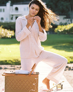 Bobby Long PJ Set - Oatmeal Heather / Bellini | Eberjey - Giftables II 2020 | Women's Socks