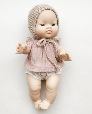 MiniKane Little Asian Baby Girl Doll - Blue Eyes