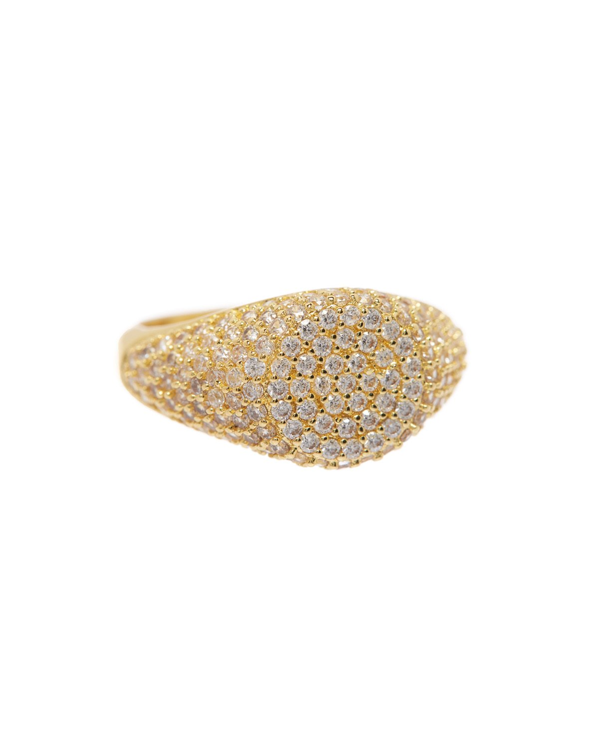 Load image into Gallery viewer, The Pave Signet Ring - Gold